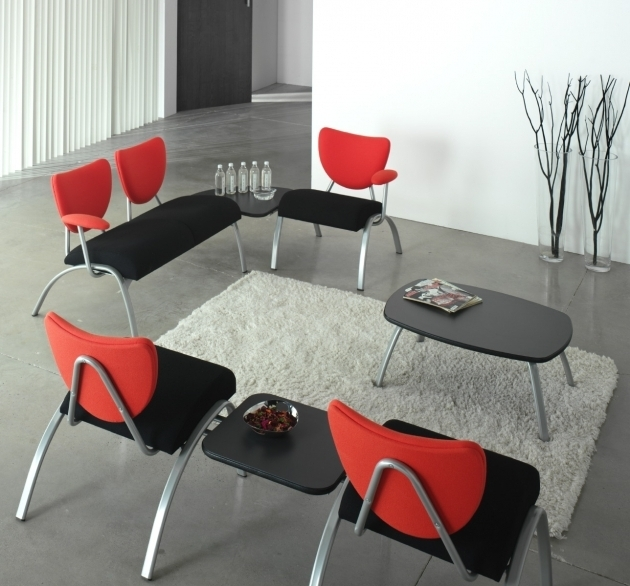 Black And Red Anti Microbial Seat Office Reception Chairs And Backrest Ainhoa Guest Chair Single Image 82
