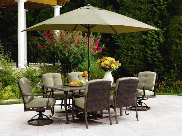 Brilliant 7 Piece Patio Dining Set With Swivel Chairs Home Resorts Photo 98