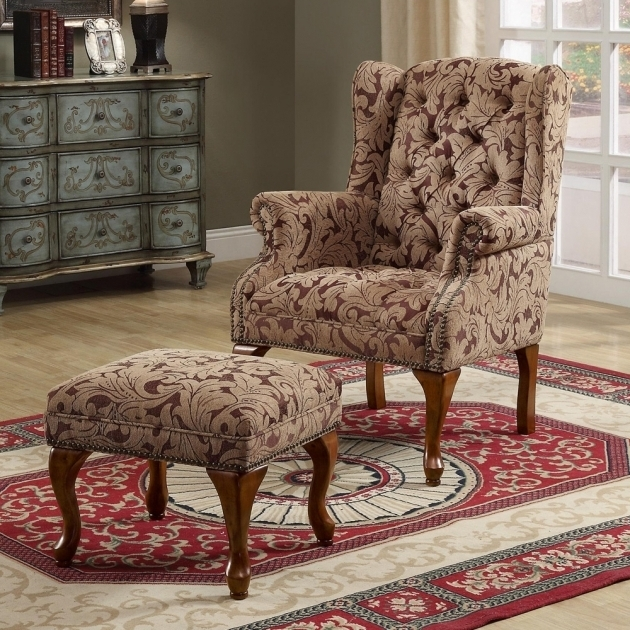 Brown Floral Single Tufted Swivel Accent Chair With Arms Living Room Decorating Ideas Images 59