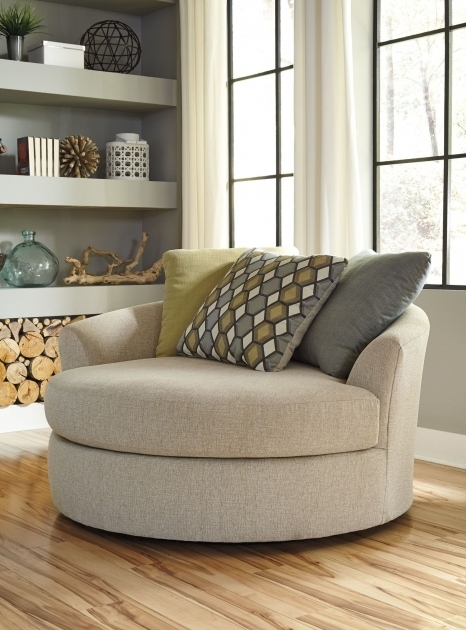 Casheral Linen Oversized Swivel Accent Chair From Ashley Images 00