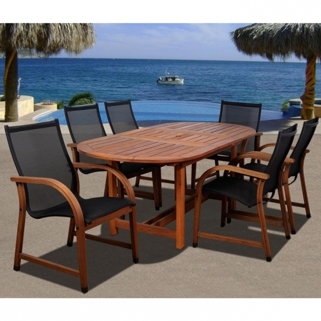 Classy Hampton Bay Belleville 7 Piece Patio Dining Set With Swivel Chairs Picture 25