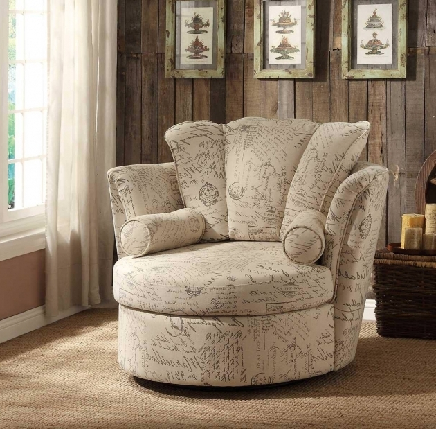Comfortable Oversized Swivel Accent Chair Teak Furnitures Image 95
