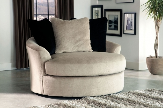 Conrad Leather Oversized Swivel Accent Chair Photo 30