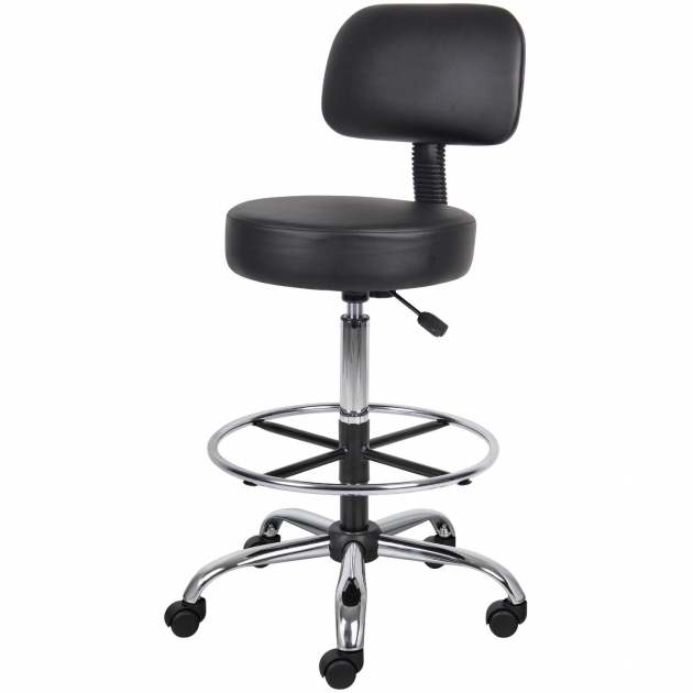 Contemporary Black Leather Rolling Small Office Chairs On Wheels Ideas Photos 64