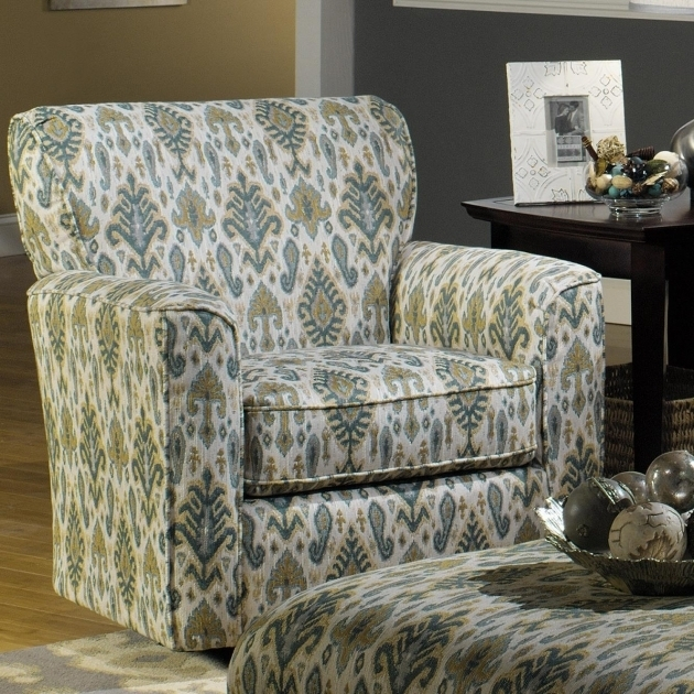 Contemporary Swivel Club Chairs Upholstered With Flared Arms And Welt Cord Trim Photos 01