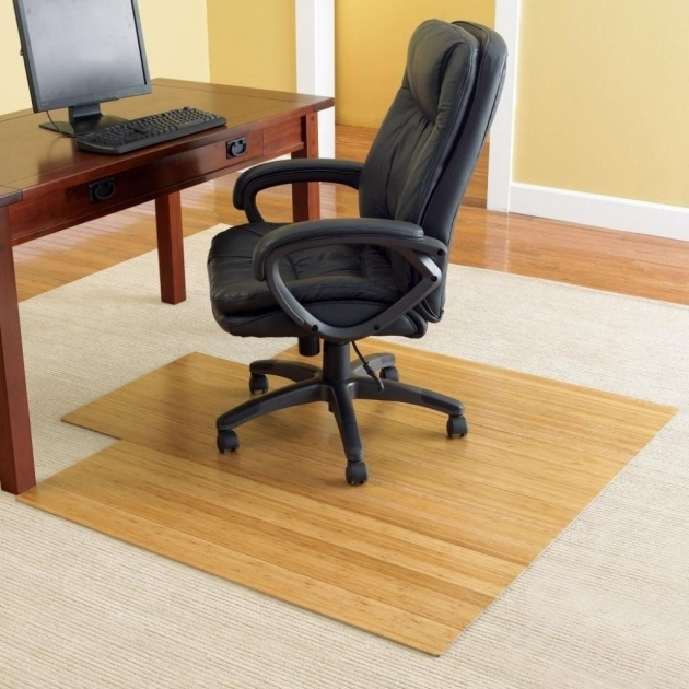 Creamy Wooden Computer Office Chair Mat For Wood Floors With Drawer Yellow Wall Paint Color Picture 00