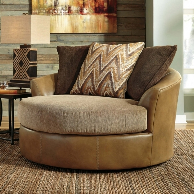 Declain Oversized Swivel Accent Chair In Sand Ashley Furniture Photo 77
