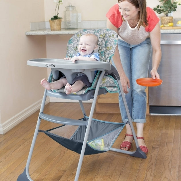 Graco Slim Spaces High Chair Snacker High Chair Harvest Picture 41