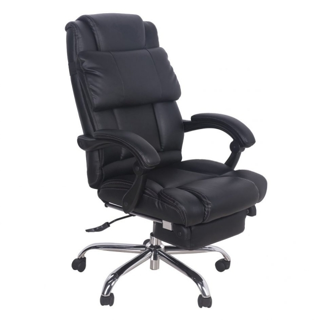 High Back Leather Executive Comfortable Office Chairs For Gaming With Footrest Executive Recliner Image 55