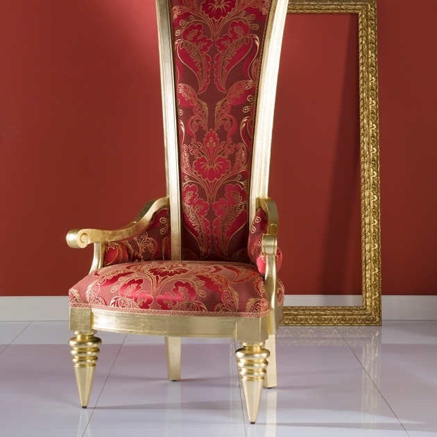High Backed Throne Chair Fino Wood Photo 66