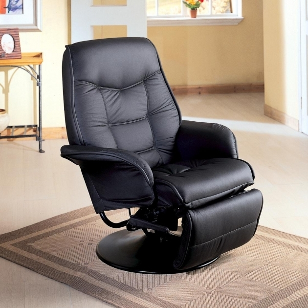 Leather Swivel Recliner Chair Rocking Executive Design Image 40