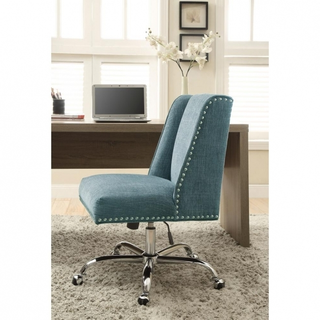 Linon Aqua Office Chair Draper Polyester With Chrome Photos 44