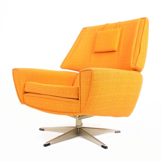 Modern Terry  Orange Swivel Chair Image 73