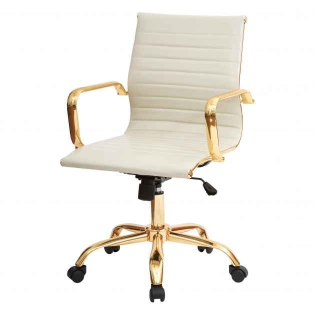 Office Chairs Under $50 Rachel George Cream White Off White Vegan Leather Gold Office Chair Photos 09