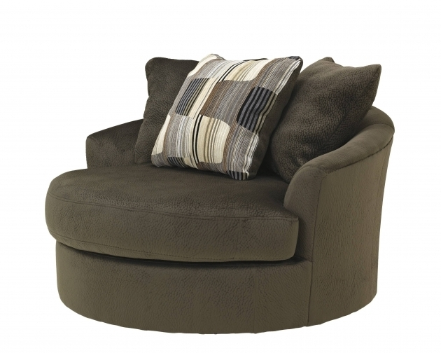 Oversized Swivel Accent Chair With Arms Picture 40