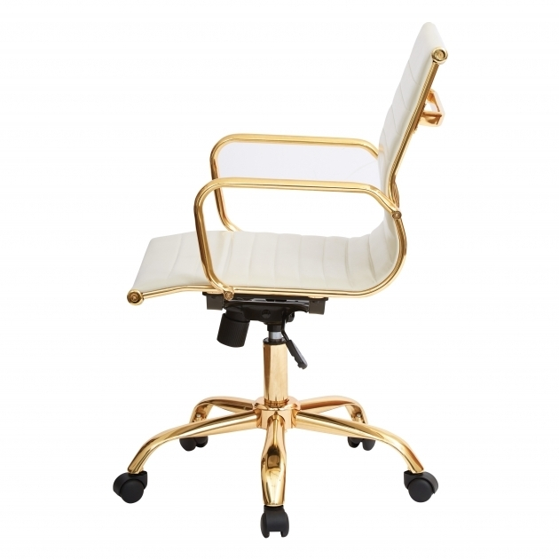 Rachel George Cream WhiteOffice Chairs Under $50 Off White Vegan Leather Lux Gold Office Chairs Photo 50