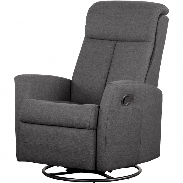 Swivel Recliner Chair Shermag Motion Glider Fabric Charcoal Image 57