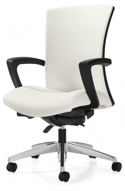Vion White Upholstered Global Furniture Task Office Chair Picture 00