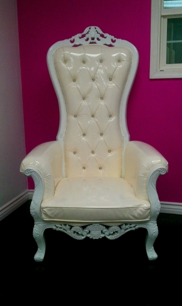 White High Backed Throne Chair Bedroom Furniture Images 60