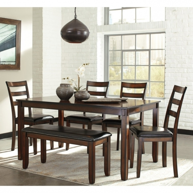 Ashley Furniture Kitchen Table And Chairs Coviar Dining Table Set In Brown Local Photos 79