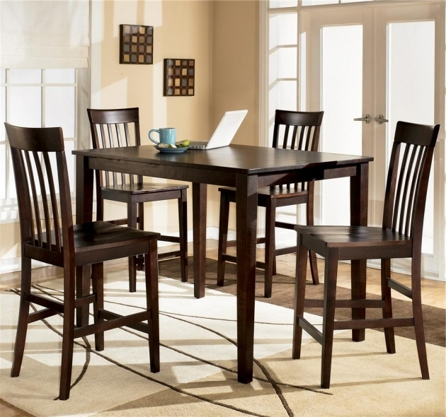 Ashley Furniture Kitchen Table And Chairs Hyland 5 Piece Rectangular Counter Height Table Ideas Images 45