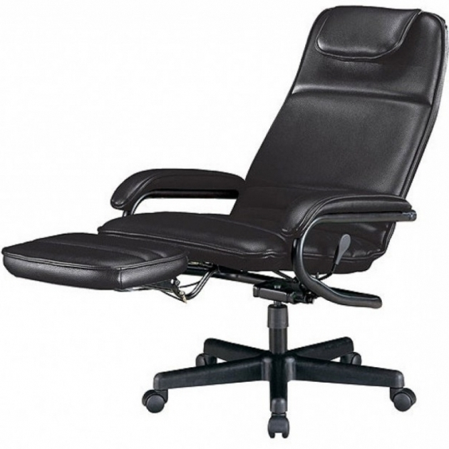 Best Black Reclining Office Chair With Footrest Design Picture 82