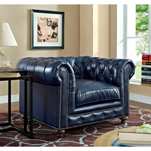 Blue Leather Club Chair Durango Rustic Furniture Tov C45 Photo 86
