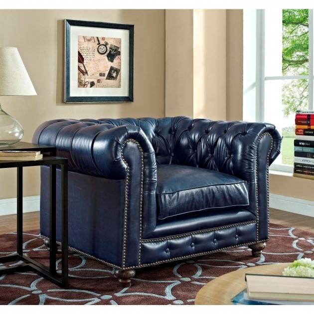 Blue Leather Club Chair Durango Rustic Furniture Tov C45 Photo 86