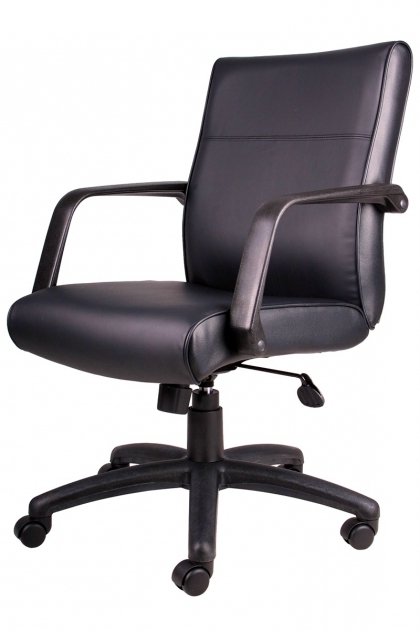 Boss Mid Back Black Leather Swivel Best Office Chair For Lower Back Pain Antique Image 53
