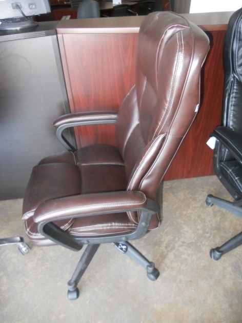 Brown Realspace Fosner High Back Bonded Leather Chair Images 57