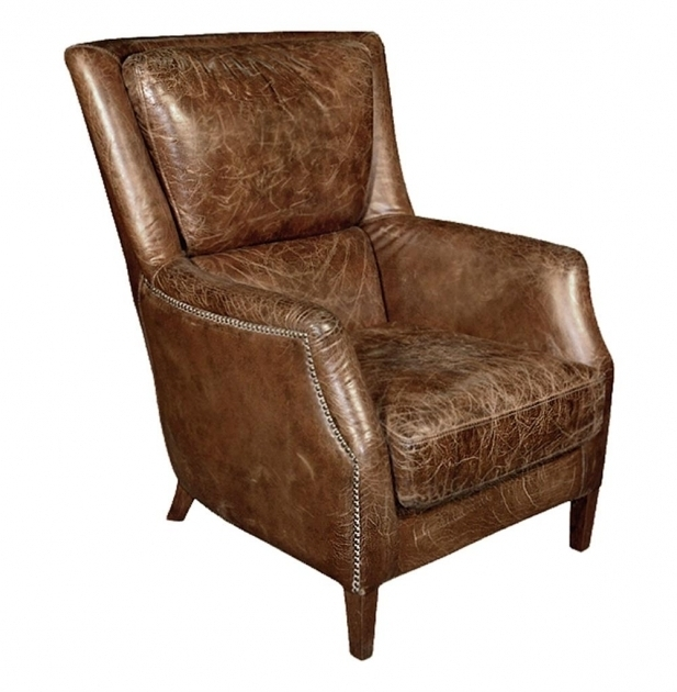 Cigar Distressed Leather Club Chair Images 87