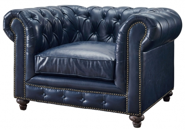 Dark Blue Leather Club Chair Durango Rustic Tov C45 Coleman Picture 38