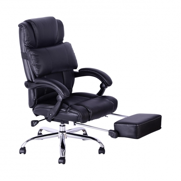 Desk Chair With Footrest Reclining Leather Office Chair With Photo 63