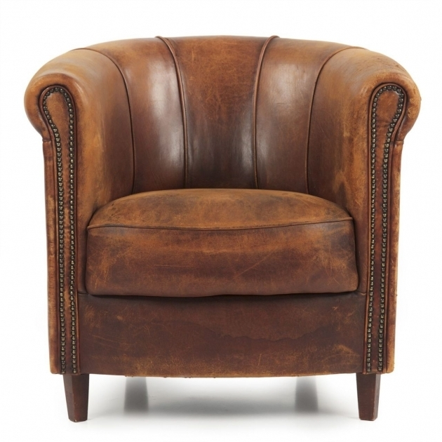 Distressed Leather Club Chair For Living Room Furniture Images 37