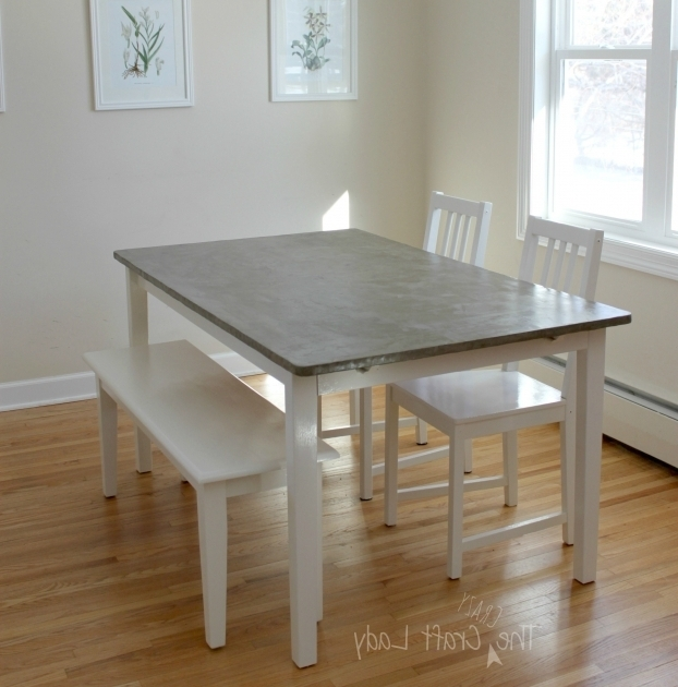 Diy concrete gray kitchen table and chairs set makeover for Concrete kitchen table