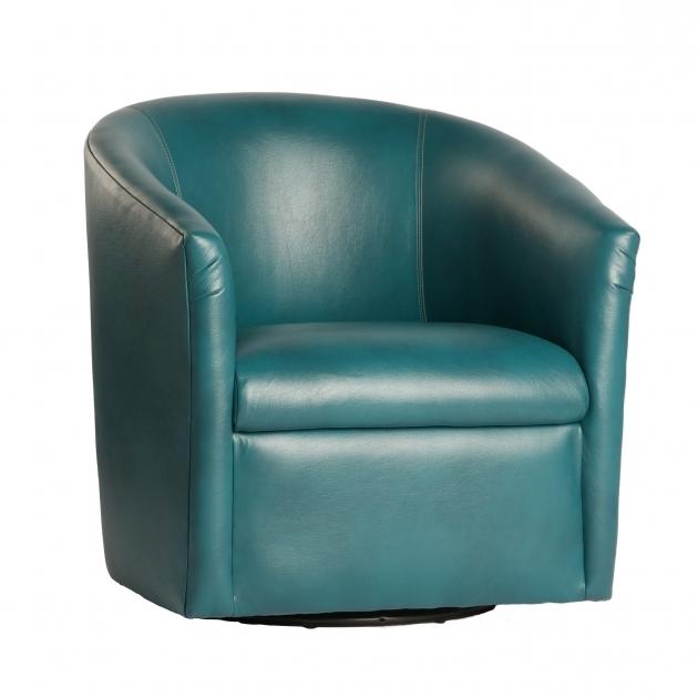 Draper Swivel Barrel Chair Modern Swivel Blue Leather Club Chair Picture 60