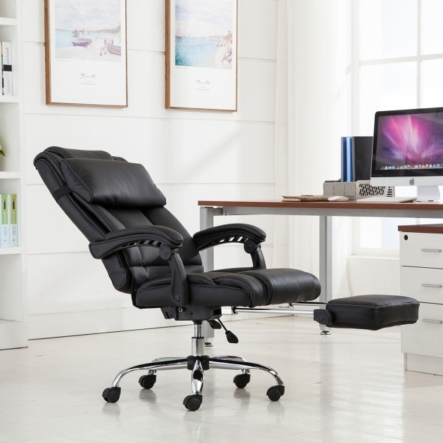 Executive Reclining Office Chair With Footrest Ergonomic High Back Leather Picture 61