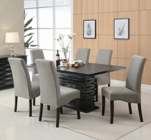Gray Kitchen Table And Chairs Coaster Stanton 7 Piece Black Rectangular Dining Table Pictures 96