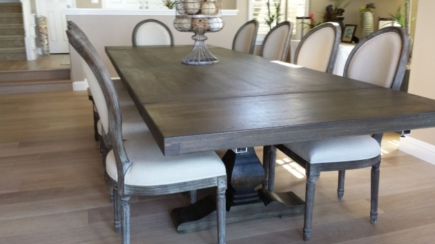 Dark Brown Wooden Dining Room Chair Gray Kitchen Table And