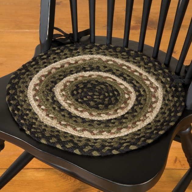 Jute Braided Chair Pads For Kitchen Chairs Olive Green  Image 23