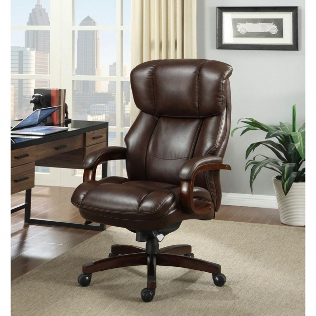 Lazy Boy Office Chairs Fairmont Biscuit Brown Bonded Leather Executive Office Image 86
