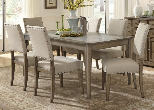 Liberty Furniture Weatherford Casual Rustic 7 Piece Gray Kitchen Table And Chairs Pictures 37