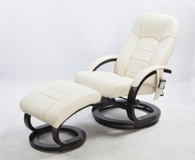 Reclining Office Chair With Footrest White Pictures 65