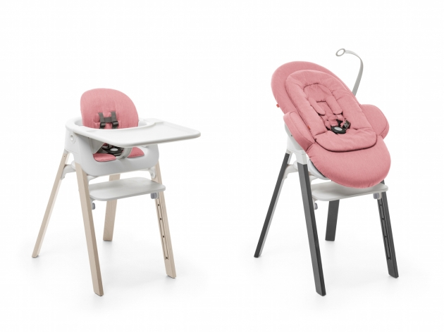 Stokke Steps High Chair Natural Beech Storm Grey Bouncer Newborn Insert Toy Pink Pictures 80