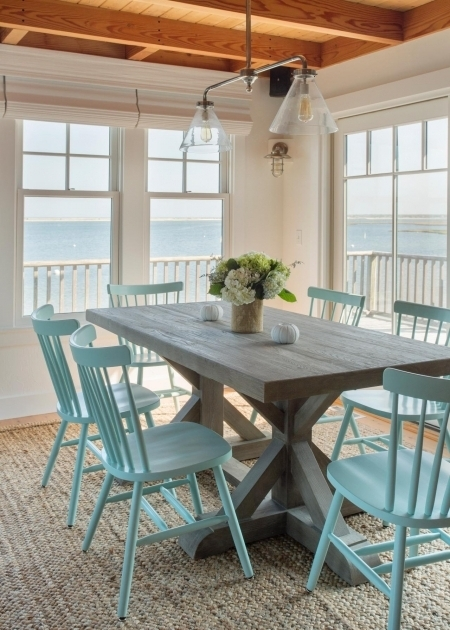 Turquoise Kitchen Chairs Ideas Coastal Dining Rooms Picture 30