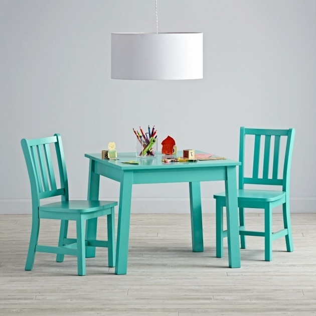 Turquoise Kitchen Chairs Square Play Table And 2 Play
