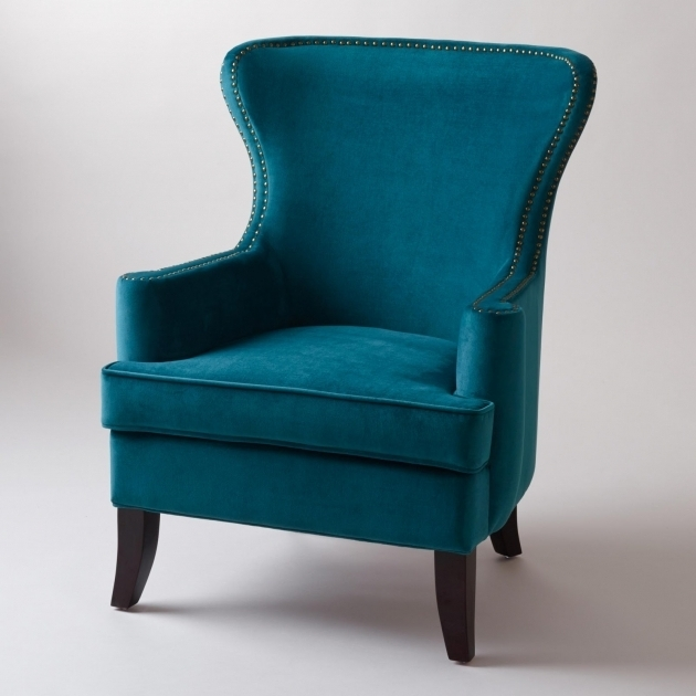 Blue Accent Chair With Arms For Interior And Exterior Home Design Photos 31