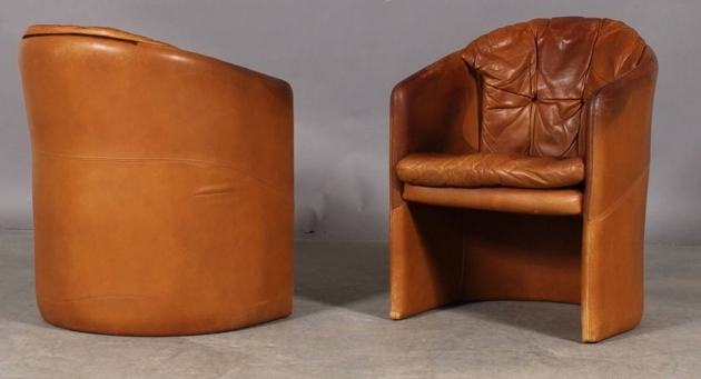 Brown Small Leather Club Chair Bedrooms Images 85