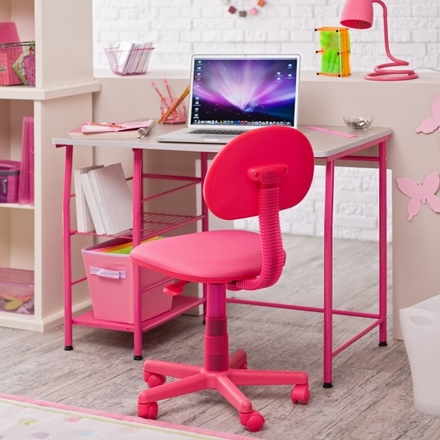Girls Office Chair Purple And White Floral Swivel Desk