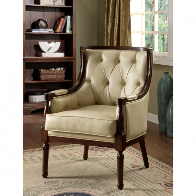 Classic Design Small Accent Chairs With Arms Living Room With Tufted Leatherette Accent Chair Images 20